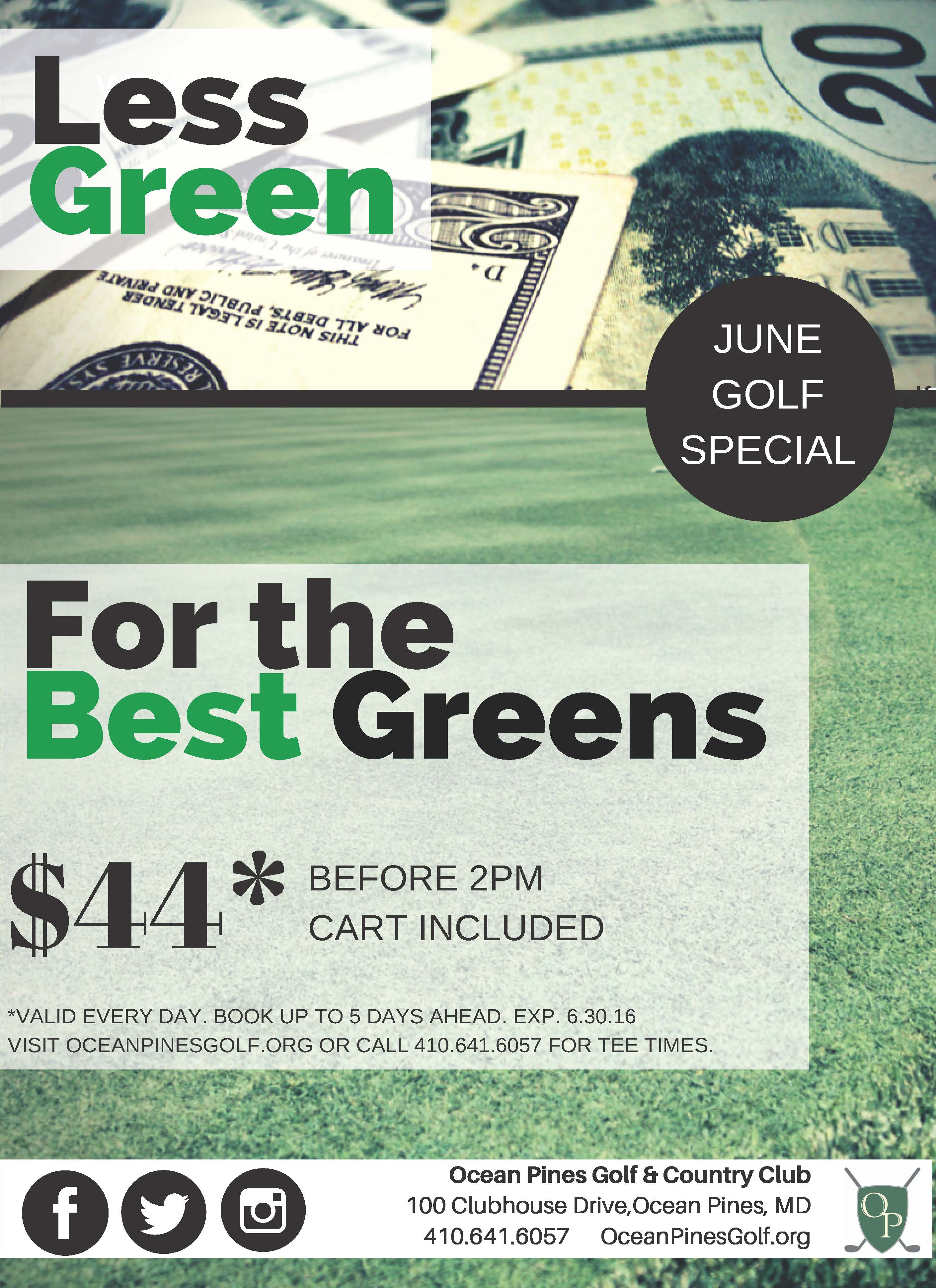 June Golf Special Flyer