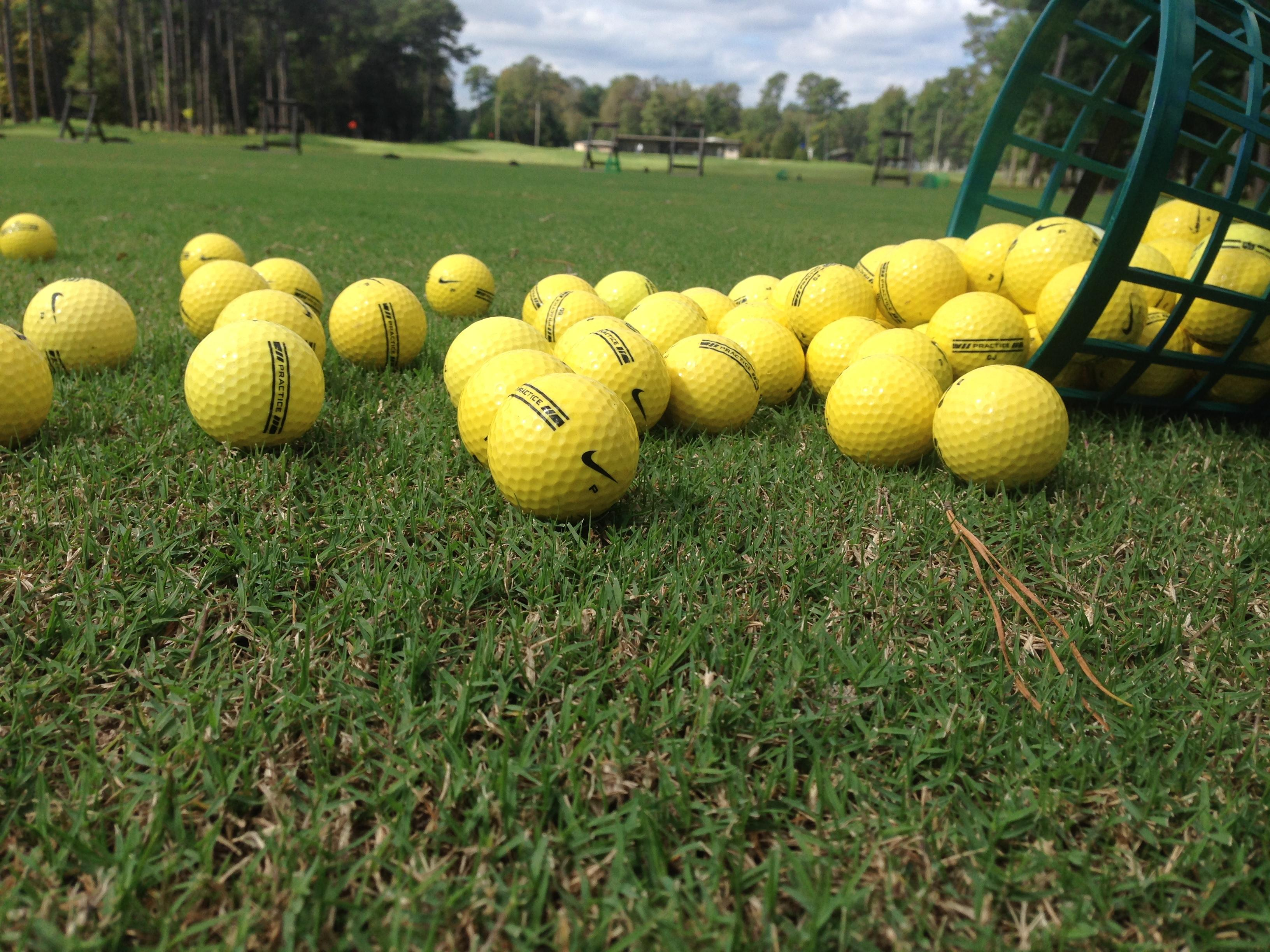 driving range bucket of balls